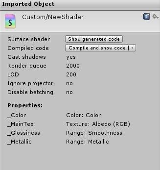 shader inspector