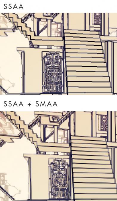Manifold_Garden_SSAA SMAA Comparison