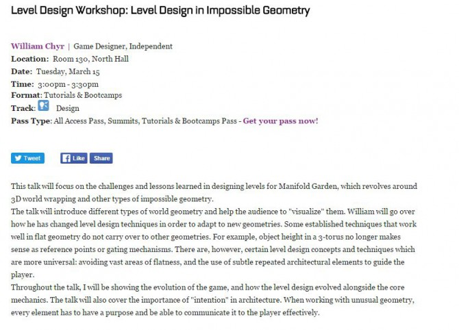level design workshop