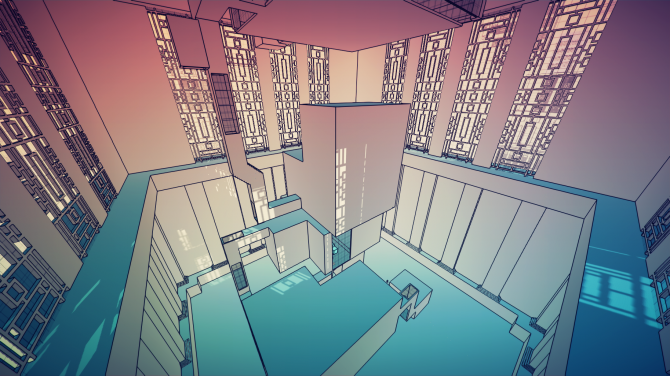 Manifold Garden windows
