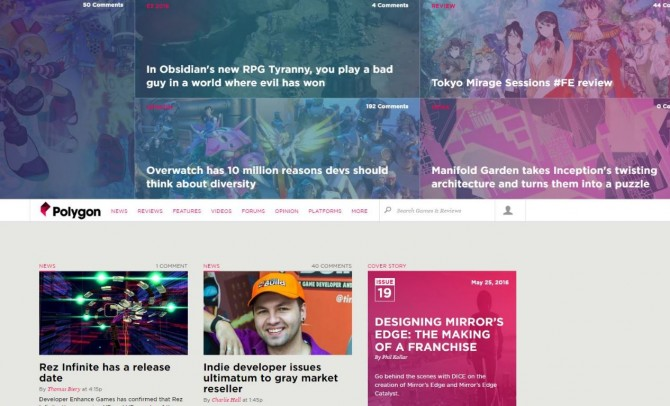 Polygon Frontpage