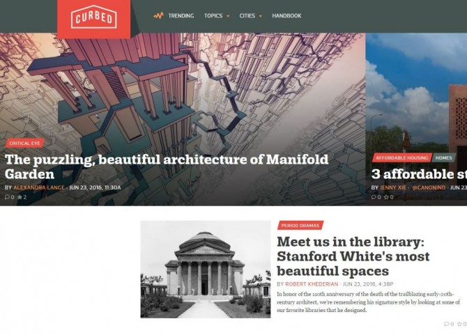 curbed front page